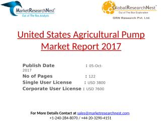 United States Agricultural Pump Market Report 2017.pptx