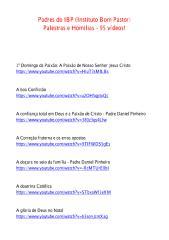 Padres do IBP (Instituto Bom Pastor) - Palestras e Homilias - 95 vídeos!.pdf