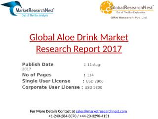 Global Aloe Drink Market Research Report 2017.pptx