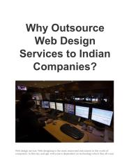 WhyOutsourceWebDesignServicestoIndianCompanies.pdf