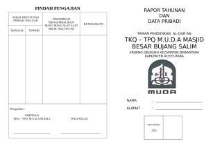 RAPOR TAHUNAN TKQ.doc