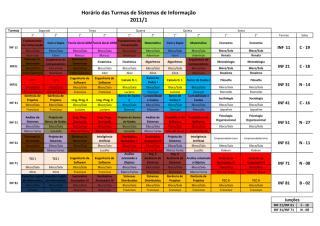 Horário das aulas e Locais - 2011_2  Sistemas de Informação(1).pdf